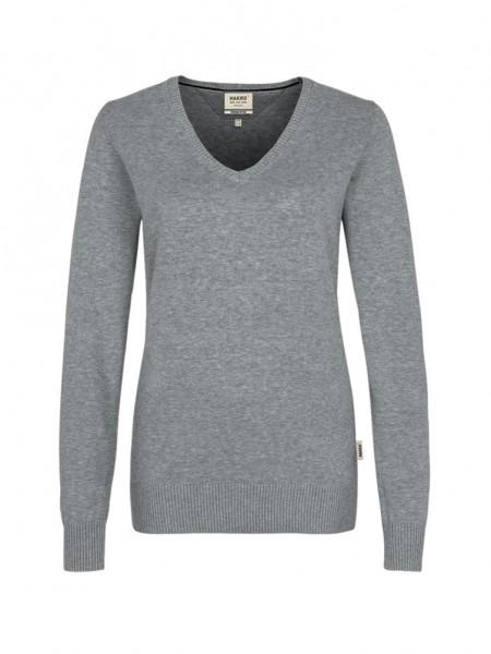 Damen-V-Pullover Premium-Cotton von HAKRO