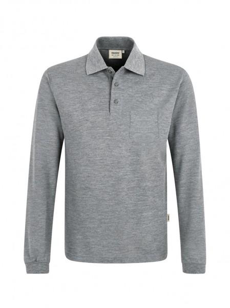 Longsleeve-Pocket-Poloshirt Top von HAKRO