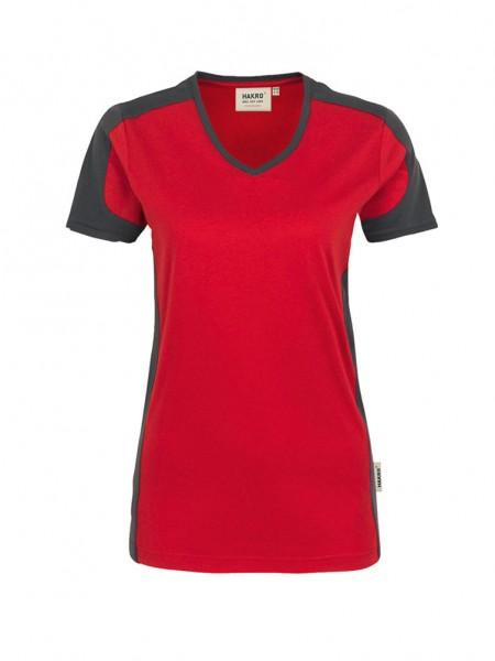 Damen-V-Shirt Contrast Performance von HAKRO