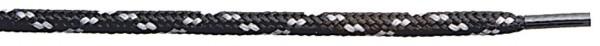 SIEVI LACES 120 BLACK/GRAY Schnürsenkel